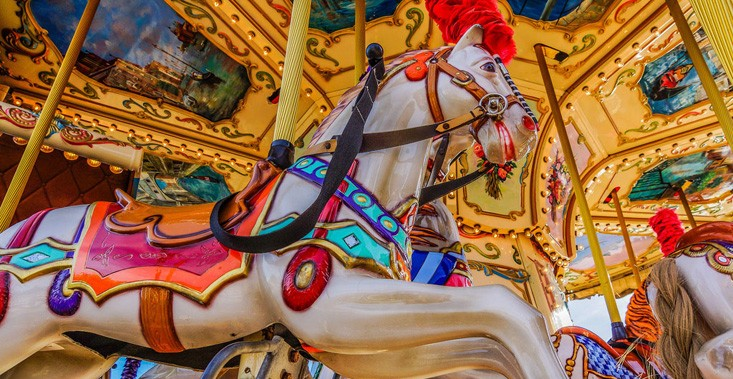 draaimolen paard